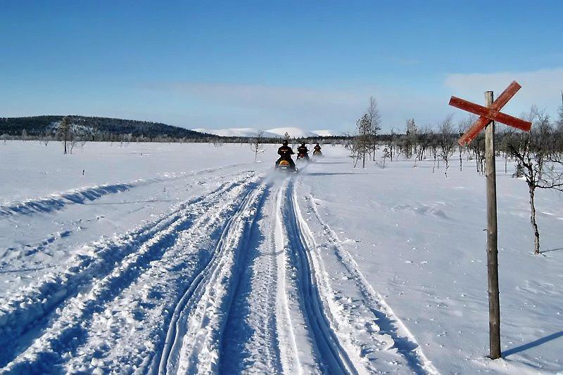 skidoo adventure Lappland